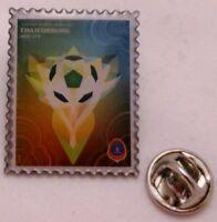 Pin / Anstecker + Fußball FIFA Weltmeisterschaft 2018 Rußland + Plakat #1 (90)