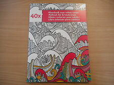 LIVRE DE COLORIAGE ADULTE - 20 PAGES - 40 DESSINS