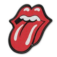 OFFICIAL LICENSED - ROLLING STONES - CLASSIC TONGUE WOVEN SEW-ON PATCH ROCK