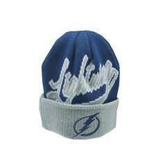 Tampa Bay Lightning NHL Reebok Youth Boys (8-20) Cuffed Winter Beanie Hat Cap