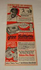 1952 Gillette razor blades ad ~ PHIL CAVARRETTA Chicago Cubs
