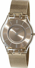 Swatch Women's Skin SFP115M Rose-Gold Stainless-Steel Plated Swiss Quartz Fas...