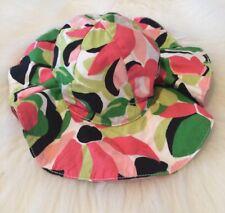 Gymboree Palm Beach Paradise 0-12 Months Floral Sun Hat with Chin Strap