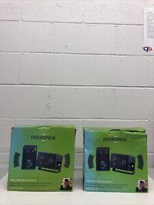 Insignia 3-Way Indoor/Outdoor Speakers Lot Of 2. New Open Box.