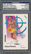 1991/92 Skybox #599 Drazen Petrovic PSA/DNA Certified Authentic Auto *2806