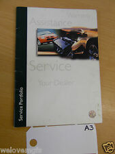 MGF Assistance Service Warranty  Book as Pictured  book A3
