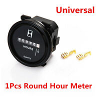 1Pcs DC 8~80V Car Engine Mechanical Round Hour Meter Counter Car ATV Gauge Meter