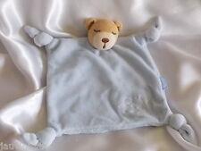 Doudou ours bleu, yeux dormeurs, broderies personnages, Kaloo