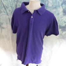 "Jaeger 100% cotton purple Polo Shirt. 24"" pit-to-pit, 31"" length, 2XL"