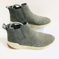 Timberland Grey Kiri Up Nubuck Leather Sneaker Boots Pull On Ankle Size UK 7