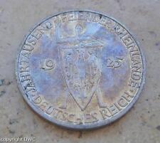 Coin Münze 3 Reichsmark Rheinlande 1925 D Weimar 500er Silber Jäger 321