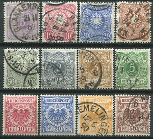 "(843) 12 VERY GOOD LIGHTLY USED 1880 - 1900 GERMANY ""PFENNIG"" SG40 - SG51"