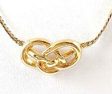 "Vintage Avon 1980,s "" Love Knot"" Gold Tone Chain Necklace   NIB"