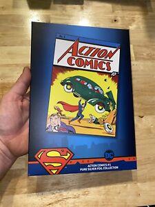 """DC Action Comics Superman 35 Gram .999 Silver Foil Poster 1.125oz 10x6"""" INVEST💰"""