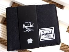 HERSCHEL SUPPLY CO. WALLET Notes Cards Purse Black New Tags BLACK