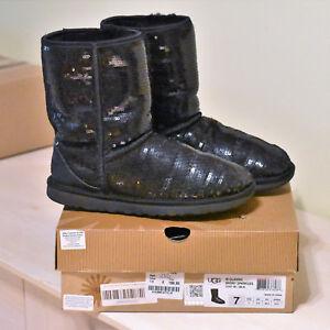 Ugg Uggs Boots sparkles Lammfell  pajetten Gr 38 NP 199.-