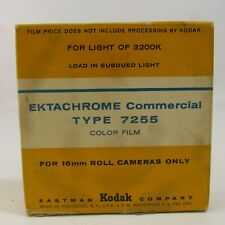 Vintage Kodak Extachrome Commercial Type 7255 Film 16mm For Roll Cameras Expired
