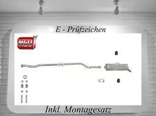 Auspuffanlage Peugeot 106 II 1.1 1.4 Auspuff Endschalldämpfer Mittelrohr