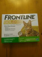 FRONTLINE GOLD FOR CATS AND KITTENS OVER 1.5 LBS 3 DOSES PLUS  FREE SHIPPING !!