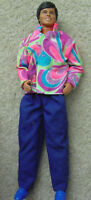 Vintage 1983 Mattel Malaysia Ken in Colorful Shirt and Blue Pants Doll