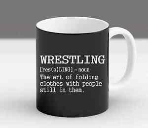 Wrestling Definition Funny Wrestler Gift Season High School Present Mug