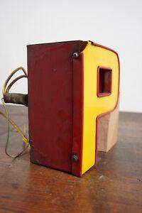 60s Metall Buchstabe P Vintage Leuchtbuchstabe Leuchtreklame Neon Werbung 70er