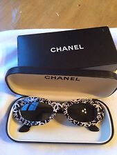"Authentic Rare Vintage Chanel Sunglasses - Style 18316-""CC"" Logo -BLACK/WHITE"