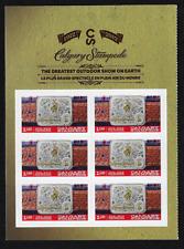Canada -Pane of 6 (Half of Booklet) -Calgary Stampede, Belt Buckle #2548 -MNH