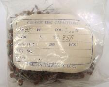 ROC CERAMIC DISC CAPACITORS 390 pF, 10% (MANUFACTURER SEALED BAG)