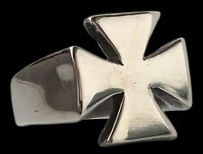 Sterling Silver Maltese Cross Templar Ring - All Sizes James Hetfield