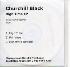 (908B) Churchill Black, High Time EP - DJ CD