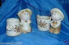 Vintage Vase or Planter Watering Can Bucket Boy + Girl