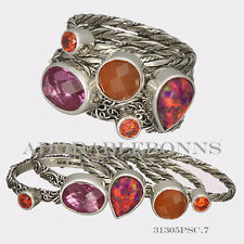 """Authentic Lori Bonn Sterling Silver """"Hot Tamale"""" Stack Ring Size 7 31305PSC"""