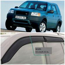 Wide Window Visors Sun Guard Vent Deflectors For Land Rover Freelander 1998-2006