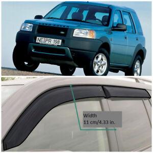LE10298 Window Visors Vent Wide Deflectors For Land Rover Freelander 1998-2006