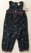 NWT Gymboree Peruvian Doll Size 2T Embroidered Denim Romper Overalls