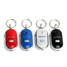 4pcs Lost Keys Finder Whistle Sound Control LED Seeker Alarm Locator Tracker