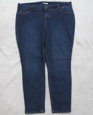 Blue Jeans Pants 24W Women's Just Fab Cotton Poly Spandex Zipper Fly Solid Plus