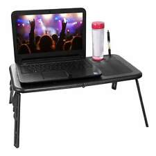 New Adjustable Foldable Laptop Notebook Desk Table Stand Portable Bed Tray BLACK