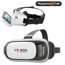 VR BOX OCCHIALI REALTA' VIRTUALE 3D PER IPHONE SAMSUNG GIOCHI VIDEO FILM 360°