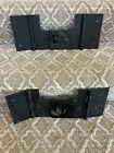 Arcade Cabinet Lot of Two Coin Door Metal Security Lock Bar Over Under Midway