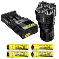 2 xCharger UK Vendeur 4 X18650 8500 LM 3 6 XML T6 DEL Lampe de poche torche lampe