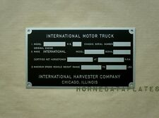 INTERNATIONAL TRUCK PICKUP IHC DATA PLATE 1947 1948 1949 K-1 K-2 K-3 KB-1 KB-2