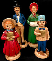 Vintage Japan Fine A Quality Christmas Family Carolers (4) Paper Mache Figures