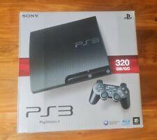 Versiegelt Neu Sony PlayStation 3 Slimline 320GB Black Spielekonsole VGA Ready