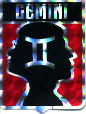 vtg prismatic sticker hippie novelty zodiac Gemini 70's van motorcycle biker red