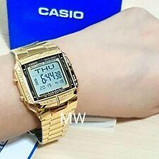 Casio DB-360G-9D Data bank Retro Digital Gold Plated Unisex Watch DB360 DB360G