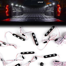 Xprite 8PC Waterproof Pickup Truck Bed Light 24 LED Pod Kit Strip White