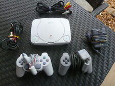 VTG 1998 Sony Play Station One SPCH-5501 Game Console W/ 2 Controllers SPCH-1080