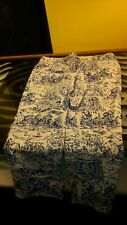 Lands End Funky Patterned Blue on White Pants Good Condition Womens Size 10